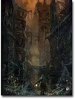 Lawrence Painting Bloodborne Art Canvas Poster Print 2 Game Pictures For Living Room Decor Raven Master Boss Bb7
