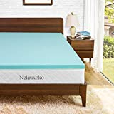 Nelaukoko 3 Inch Mattress Topper Full Size Memory Foam Pad, Double Bed Mattress Topper