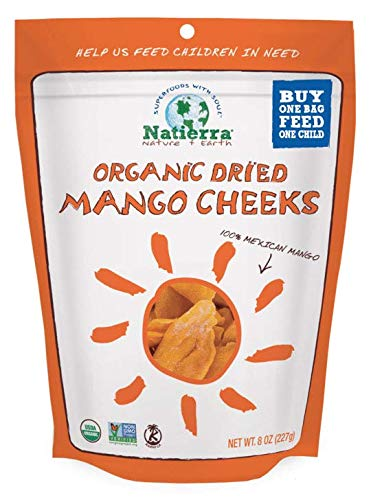 Natierra Organic Dried Mango Cheeks | Non-GMO & USDA Organic Certified | 8 Ounce (Pack of 6) (Best Of Kumar Sanu Hindi Webmusic)