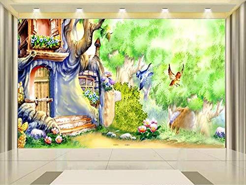 3D Wallpaper Fototapete Kinder Wandbild Wohnzimmer Alice Im Wunderland Malerei Sofa Tv Hintergrundwand, 200 × 150 Cm