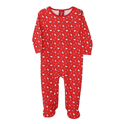 Liverpool FC Baby Hello Kitty Sleepsuit LFC Official Red