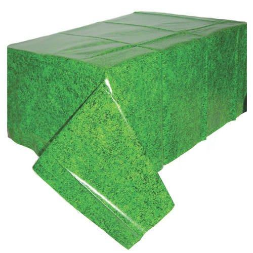 Onbekend plastic tafelkleed voetbal gras 137 x 259 cm
