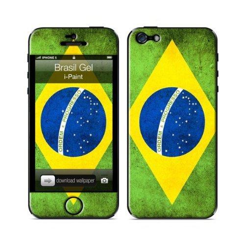 i-Paint gel beschermfolie voor iPhone 5/5S met Braziliaanse vlag