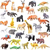 higadget Educational Toy Animals, Play Set for Kids, Different Zoo Wild Jungle Animal Toys, Animal Zoo