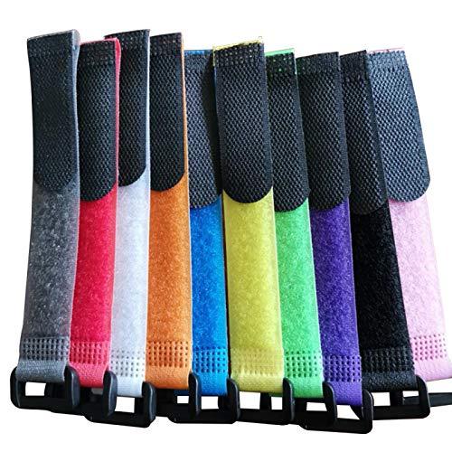 Correa de corbata de caña de pescar, 10 piezas de cinturón, banda de caña de pescar, adhesivo mágico, soporte de herramientas de envoltura de nailon, poste ajustable para caña de pescar, equipo de