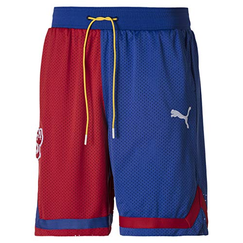 PUMA Super Mario™ Herren Basketball Gestrickte Shorts High Risk Red-SM64 XS
