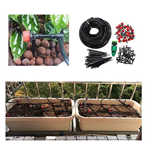 Irrigación Kit Micro Sistema de goteo jardín Tobera 25m Kit de riego automático Jardín Botánico de la manguera ampliamente utilizado y duradero (Color: Negro, Tamaño: Conjuntos) xuwuhz