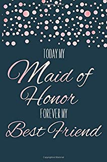 Maid of Honor: From the Bride I Dotted Journal Navy Rose Gold I Wedding Planner I Diary I Surprise Idea I Will You Be My Maid of Honor I Bridesmaid ... I Best Friend for Life I Thank You Gift
