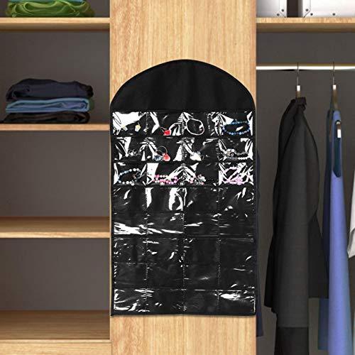 Bolsa de Almacenamiento Colgante de plástico fácil de Llevar para Viajes a casa 81 * 46 * 0.2cm / 33.8 * 18.1 * 0.08in(Black)