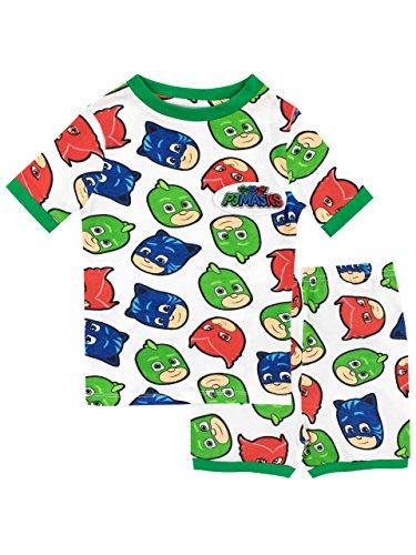 PJ Masks Jungen Catboy Owlette Gecko Schlafanzug Slim Fit Mehrfarbig 134