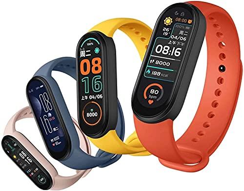 ALKM M6 pulsera inteligente reloj fitness Tracker ritmo cardíaco presión arterial monitor color pantalla IP67 impermeable para teléfono móvil