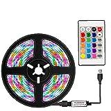 Luces de Tira LED LED Luz de Cinta LED RGB Strip Control Remoto Impermeable 16 Colores Decoración para la Cocina de TV para el hogar DIY 50 cm Luces de Cuerda al Aire Libre