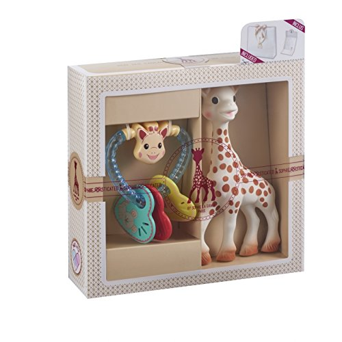 Lowest Price! Vulli Sophie The Giraffe Sophiesticated Birth Gift Set Small #3- Rattle & Toy