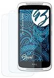 Bruni Schutzfolie kompatibel mit HTC Desire 526G+ Folie, glasklare Bildschirmschutzfolie (2X)