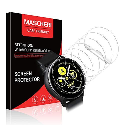 MASCHERI Schutzfolie für Samsung Galaxy Watch Active Schutzfolie/Samsung Galaxy Watch Active 2 (40mm) Schutzfolie, [6 Pack] [TPU-Folie] HD Soft Folie Fuer Samsung Watch Active