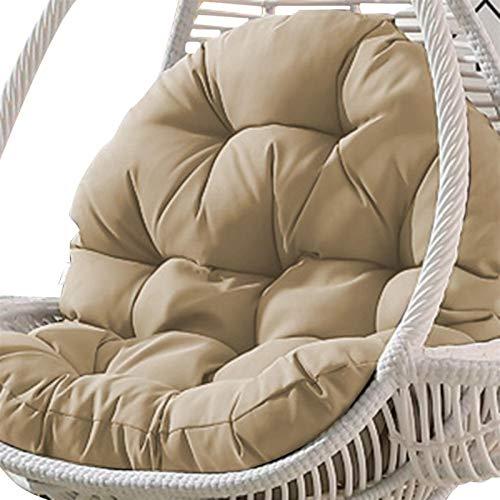 Mirui Cojín para silla de jardín con forma de huevo, para colgar en el hogar, sala de estar, cama, mecedora, asientos de 90 x 120 cm (color: D, solo cojín).