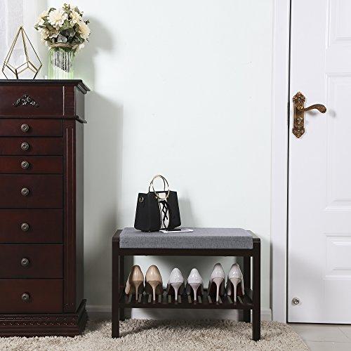 SONGMICS-Bamboo-Shoe-Bench-Rack-with-Upholstered-Padded-Seat-Storage-Shelf-Origanizer-Bench-for-Bedroom-Living-Room-Hallway-Front-Door-Entryway-Foyer-Garage