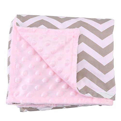 Zerodis Coperta in cotone super soft per neonato, comoda coperta bimaterna per bambini, leggera coperta di grandi dimensioni(#4)