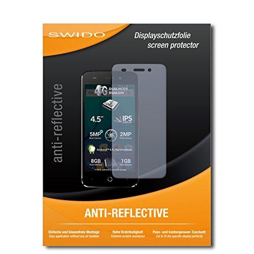 SWIDO Schutzfolie für Allview P5 Lite [2 Stück] Anti-Reflex MATT Entspiegelnd, Hoher Festigkeitgrad, Schutz vor Kratzer/Bildschirmschutz, Bildschirmschutzfolie, Panzerglas-Folie