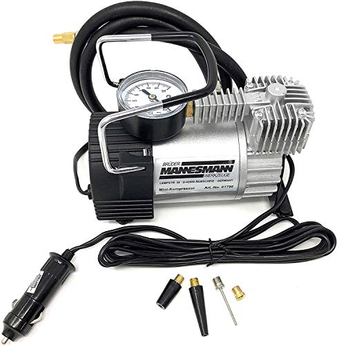 Mannesmann - M01790 – Mini compressore in alluminio, 140 psi