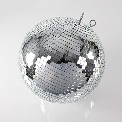 Grande Discoteca Palla glix con Vera Sfaccettature di Vetro, Ø 40cm, Argento–Sfera a specchi–Anni ', Anni' Anni Motto Party–showking