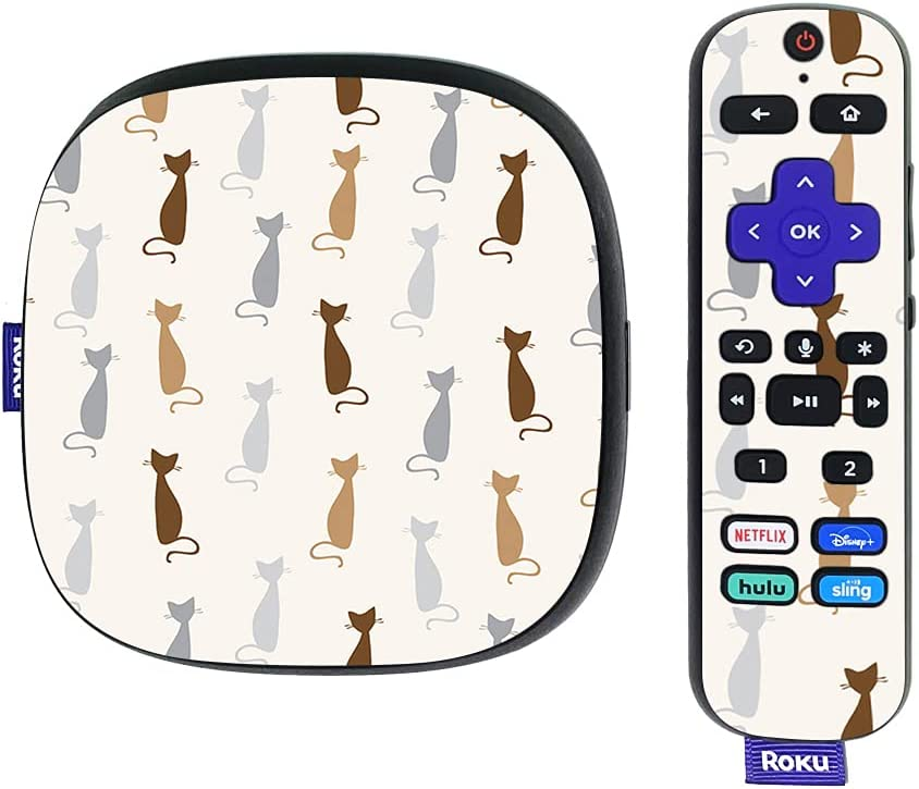 MightySkins Skin Compatible With Roku Ultra HDR 4K Streaming Media Player (2020) - Cat Lady   Protective, Durable, and Unique Vinyl Decal wrap cover   Easy To Apply and Change Styles   Made in the USA