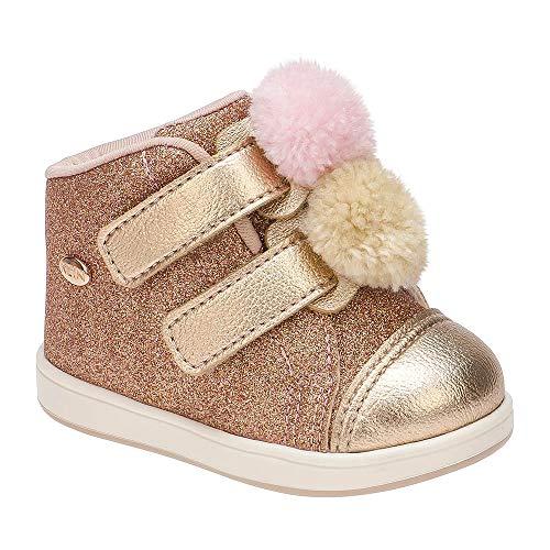Tênis Bebê Mini Gloss Pompom Cor: Rosa - Tam.: 17