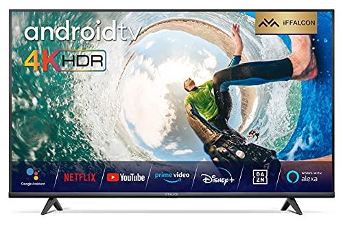 iFFALCON 55K610 LED Fernseher 55 Zoll (139cm) Smart TV (4K Ultra HD, MEMC, Dolby Vision, Android TV, inklusive Sprachfernbedienung, Prime Video, Google Assistant und Alexa)