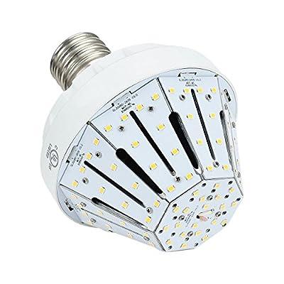 Phenas LED Garden Light Corn Bulb 20W (50-100 Watt Replacement), LED Street Light/Garden Lamp/Parking Lot, E39 Large Mogul Screw Base, 6000K Area Light, 360° Flood Light, UL-Listed