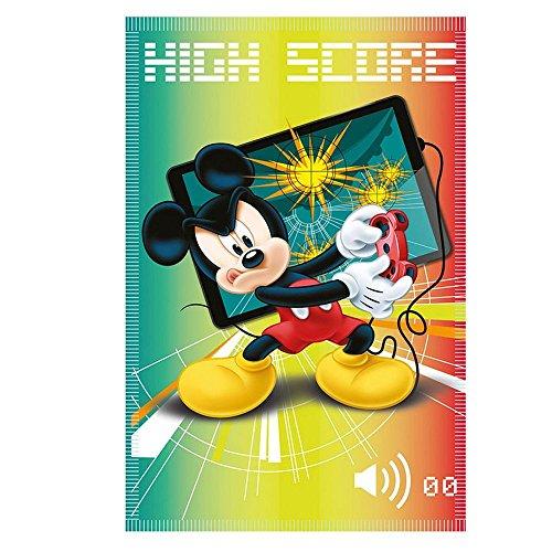 Mickey Mouse Score | Couverture Polaire | 100 x 140 cm | Disney Plaid Enfant