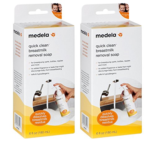 Medela Quick Clean Breastmilk Removal Soap, 2 - 6 Ounce Bottles