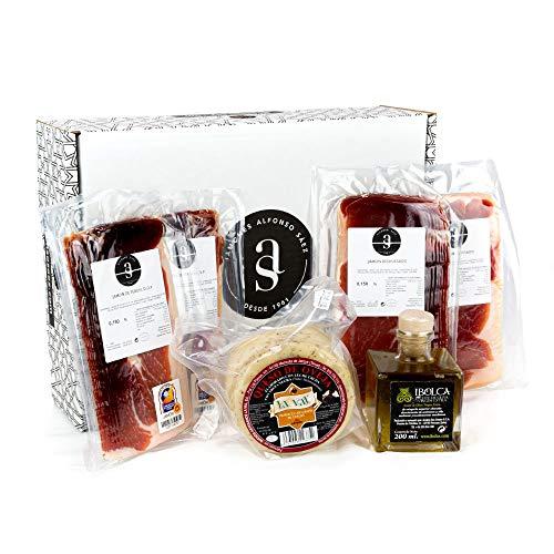 JAMONES ALFONSO SÁEZ, Packs selección de jamón, embutidos, queso y aceite (Caprichos compartidos)