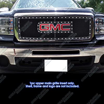 APS Compatible with 2007-2012 GMC Sierra 1500 2007-2010 Sierra Denali New Body Rivet Stud Mesh Grille Grill GL6474H