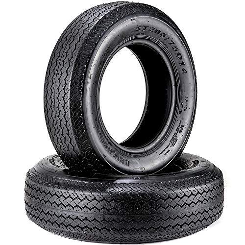 2 Trailer Tires ST 205/75D14 6PR 14 Inches Bias 205 75 14 Tires Load Range C