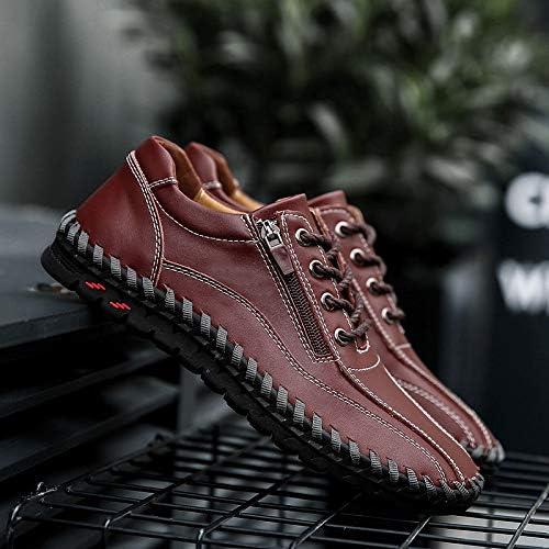 LOVDRAM Chaussures Hommes De Grande Taille Nouvelle Mode Hommes en Cuir Chaussures Décontractées Cousues à La Main Quatre Saisons 38-49