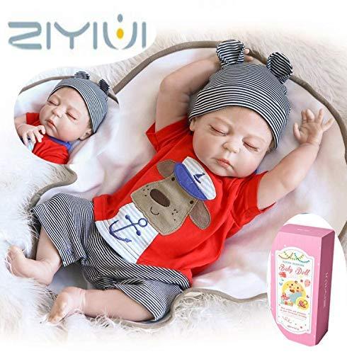 """ZIYIUI 20 \""""Ganzkörper Silikon Vinyl Junge Puppe Reborn Baby Puppe Lebensechte Baby Neugeborenen Jungen Puppe Kinder"""