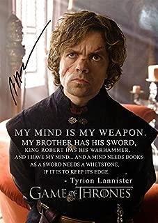 Game Of Thrones Season 4 Tyrion Lannister (11.7 X 8.3) Tv Print Peter Dinklage