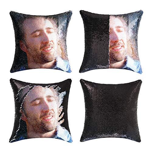 """Nicolas Cage Throw Pillow Case Cover Bed Decor Cushion Pillowcase 30/""""x20/"""""""