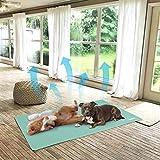 WISFORBEST Alfombrilla de Refrigeración para Mascotas Cama Veranopara Perros y Gatos Alfombra de Enfriamiento para Animales para Verano Color Verde Menta (70x110cm)
