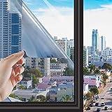 RMane Lámina autoadhesiva de espejo para ventana, aislamiento térmico, protección visual, para el hogar, salón, dormitorio, baño, oficina, tienda, oficina (plata, 60 x 400 cm)