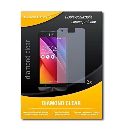 3 x SWIDO® Schutzfolie Asus ZenFone Selfie Bildschirmschutz Folie