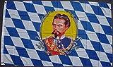 flaggenmeer® Flagge Bayern mit König Ludwig 80 g/m² ca. 90 x 150 cm