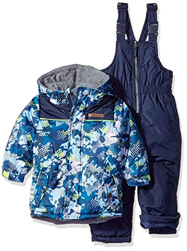 Wippette Baby Boys and Toddler Insulated Snowsuit, Camouflage Navy, 4T