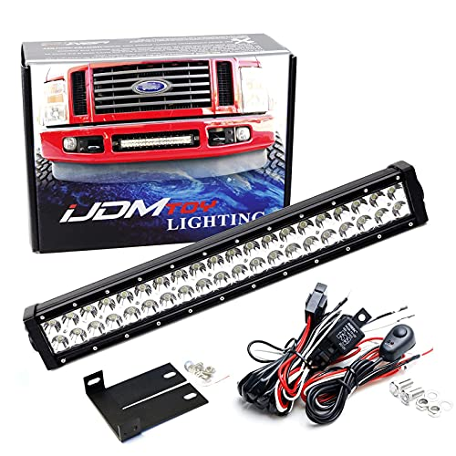 iJDMTOY Lower Grille 20-Inch LED Light Bar Compatible with 2008-2010 Ford F250...
