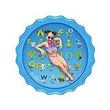 66.5inch Colchoneta de agua para niños, colchoneta inflable para jugar al agua, cojín de Agua pulverizada de verano para niños, colchoneta para jugar al agua, juegos de césped, juguetes para niños,B