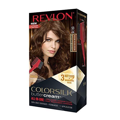 Revlon Color Silk all-in-one Butter Cream 53 Mittel-Goldbraun, Ammoniakfrei (3er Pack)