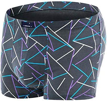 JIUMENG Men's Boxer Briefs Underwear Men's Red Comfortable Cotton Underwear