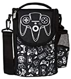 Fringoo - Large Capacity Kids Strap Lunch Bag   Small Cool Bag Kids Lunchbox   Perfect As School Lunch Bag For Boys - Game On