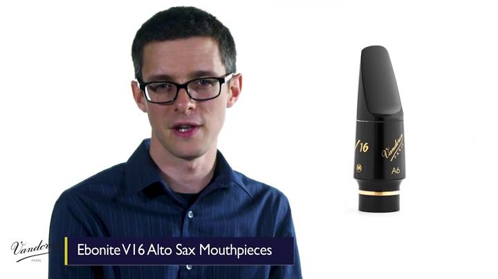 Vandoren SM812M A6 Medium Chamber V16 Alto Saxophone Mouthpiece