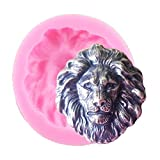 3D Creative Lion Head Shaped Soap Candle Silicone Mold DIY Topper Decoration Non-stick Premium Cooker Accessories Baking Pan Ice Cream Tray for Homemade Chocolate Dessert Gummy Candy